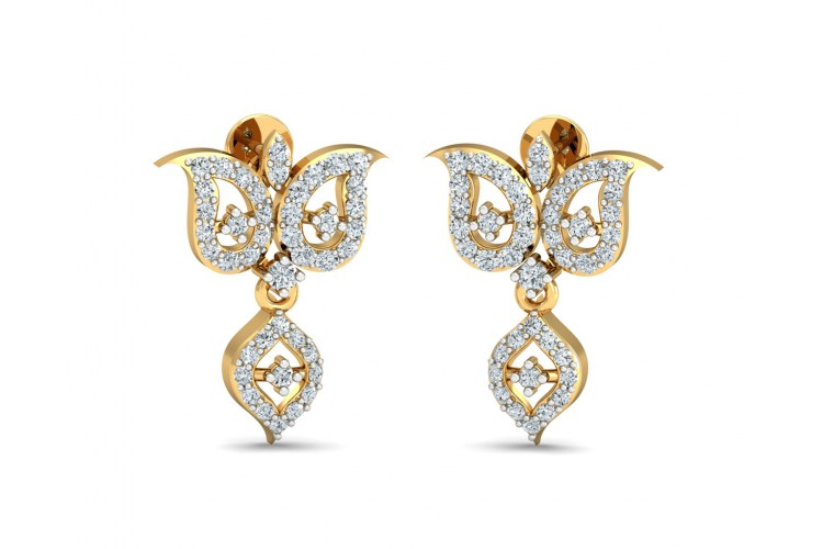ULa Certified Diamond Earrings in Hallmarked Gold