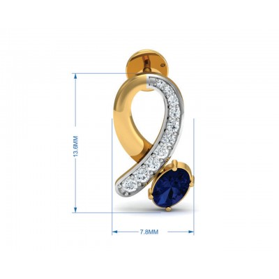 Rami Blue Sapphire & Diamond earrings in Gold