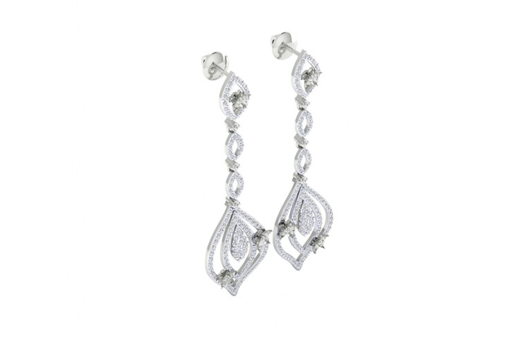 Ulrike Diamond dangle drop earrings in gold