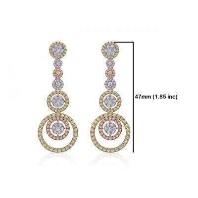 Romy Diamond Dangle drop earrings in Gold