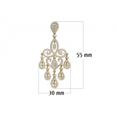Chandelier Diamond  Wedding Earrings