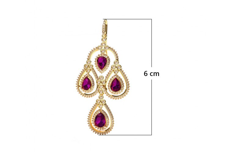 Amethyst & Diamond contemporary Danglers