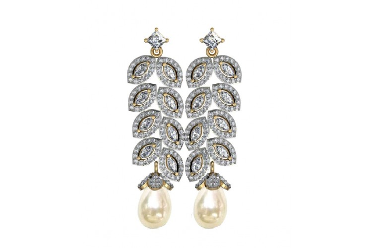 Marquee & Round diamond danglers