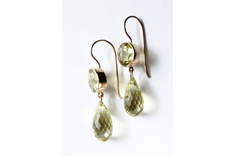 alex citrine gold ir with drop buds chain buttercup plated monroe earrings lemon