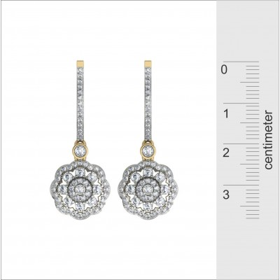 Delicate Diamond Danglers on Hoops