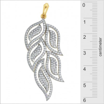 Designer Diamond leaf design Pendant