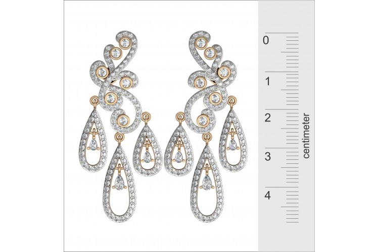 Diamond Earrings Haute Couture
