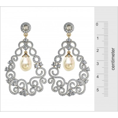 Simply Gorgeous Pearl & Diamond Earrings