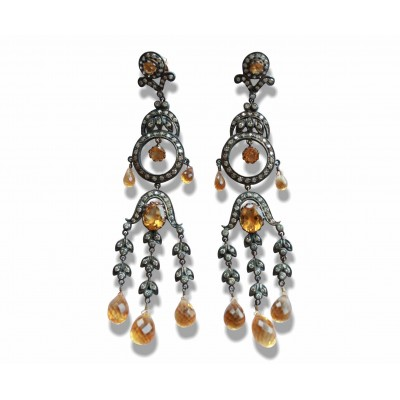 Chandelier Earrings with Cirtine