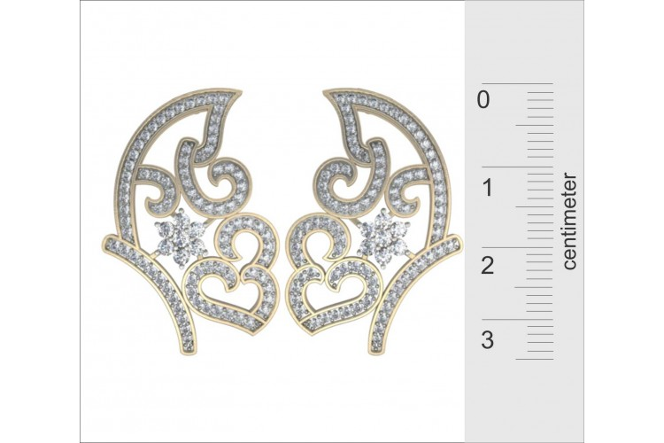 Imposing Diamond Earrings