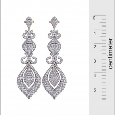 Scintillating Diamond Dangle Earrings