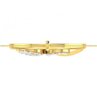 Auspicious Shri Pendant in Gold with diamonds
