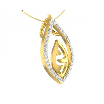Shiva's Third Eye pendant in Gold with diamonds