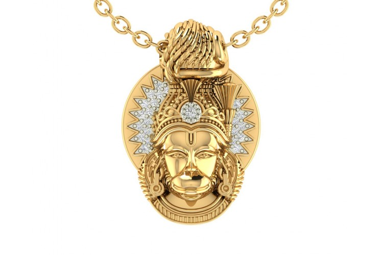 Divine hanuman pendant in gold aloadofball Image collections