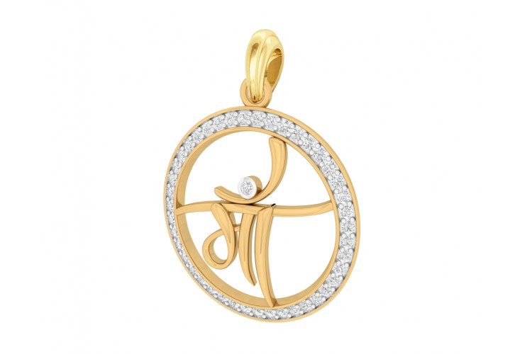 Maa pendant in gold with diamonds