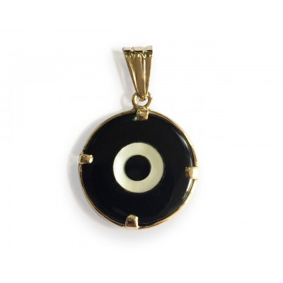 Evil eye pendant for Men in gold