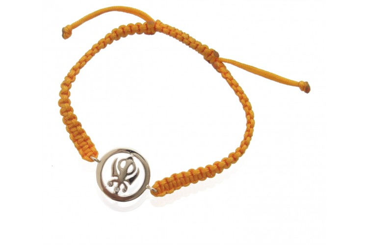Khanda Bracelet in Gold 14 mm
