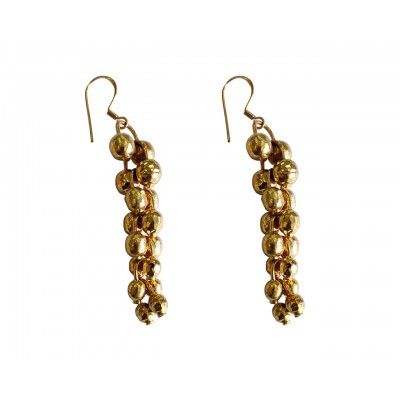 Gold Plated Silver dangle earrings
