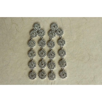 Diamond Earring in White Gold
