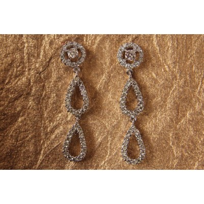 Diamond Double Drop Danglers Earring