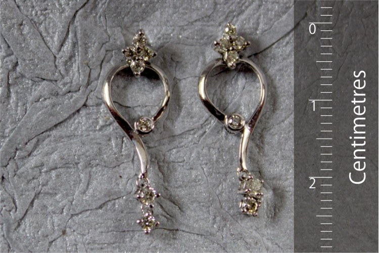 Fancy Delicate Diamond Earrings