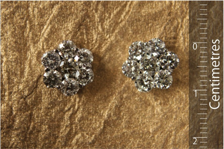 Diamond Conventional Cluster Earring