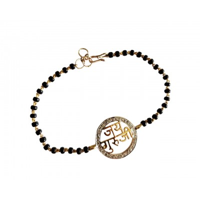 Jai Guru Ji Bracelet On Mangalsutra Chain with diamonds