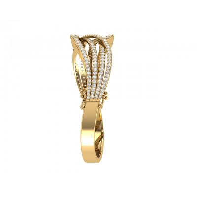 Gena Diamond Half Bangle in 18k gold