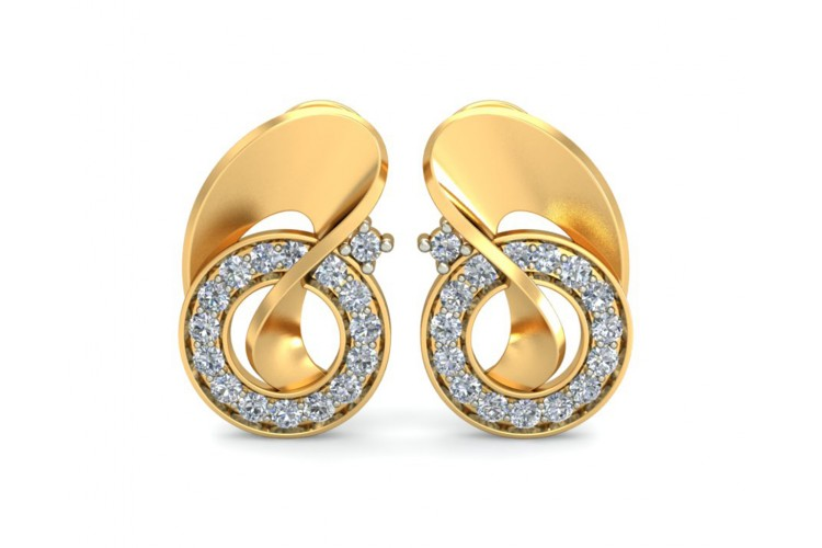 Olivia Diamond Earrings in Gold
