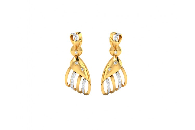 Unice Diamond earrings in 18k gold