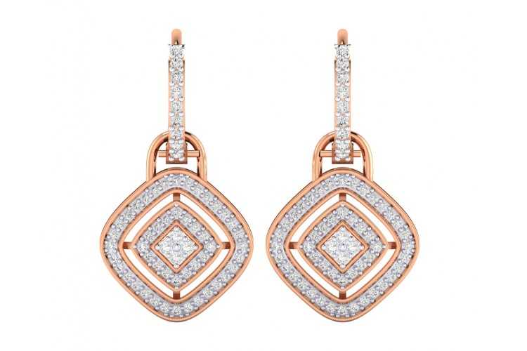 Raby Diamond Earrings in your choice of Gold, white gold or two tone gold