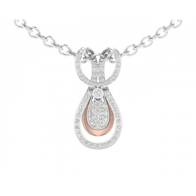 Ame diamond pendant in gold