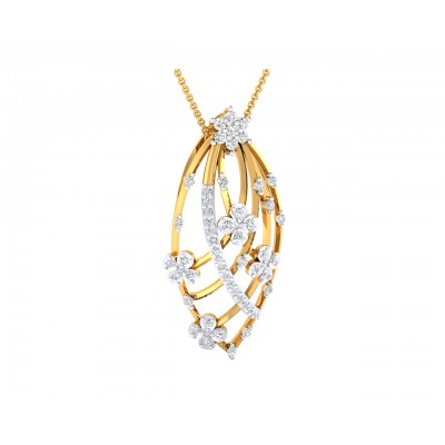 Riba Diamond designer Pendant in 18k gold