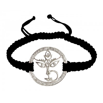 Durga Mata Bracelet with diamonds in silver