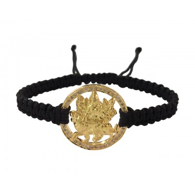 Auspicious Mata Bracelet in gold on adjustable thread