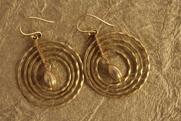 Gold Concentric Hoops