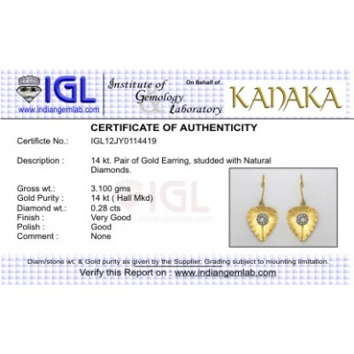 Gold Earring with Diamond