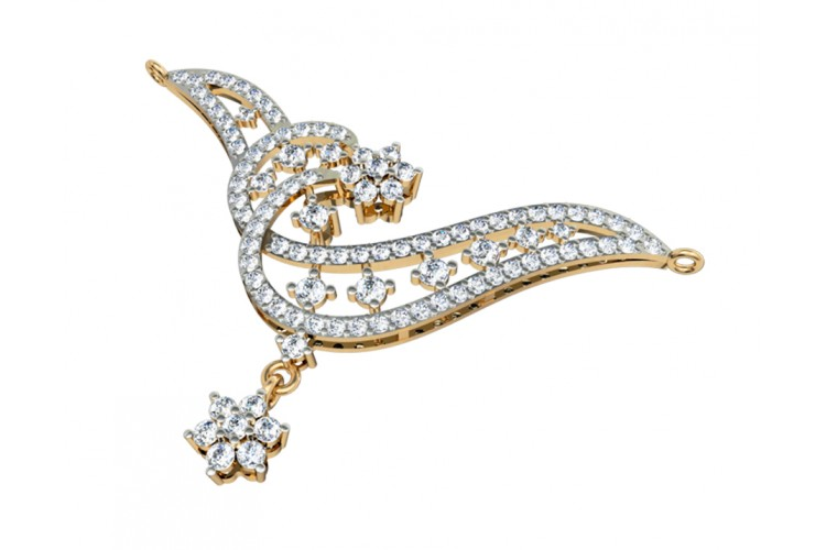 Dainty Diamond Mangalsutra in Gold