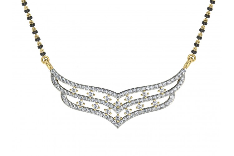Diamond Mangalsutra in Gold
