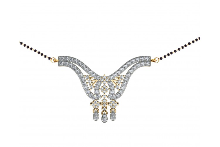 buy diamond mangalsutra online in india at best price