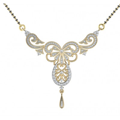 Fancy Diamond Mangalsutra