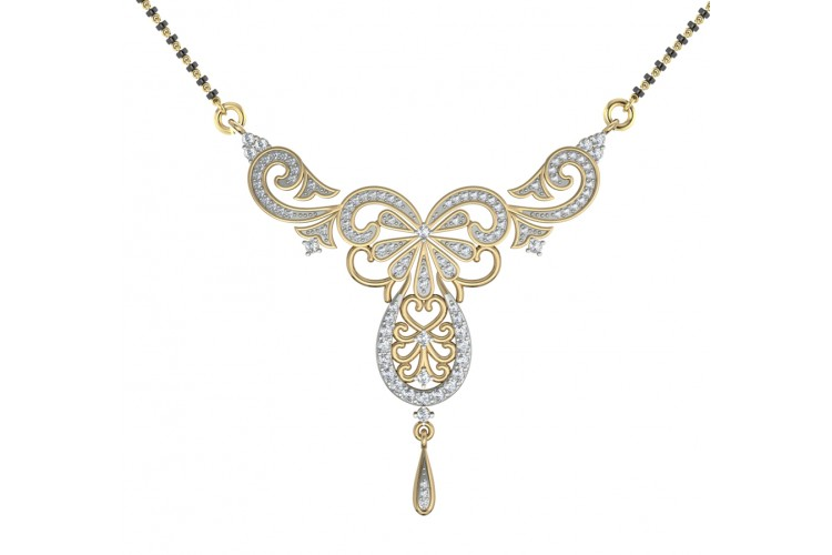 Buy Fancy Diamond Mangalsutra Online In India At Best
