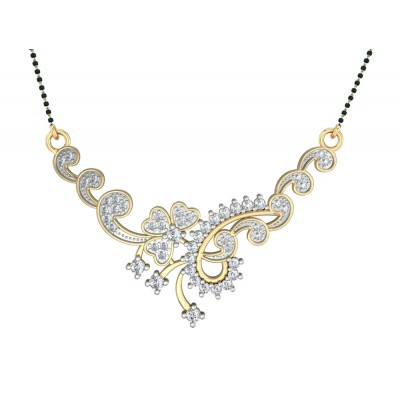 Floral Design Diamond Mangalsutra