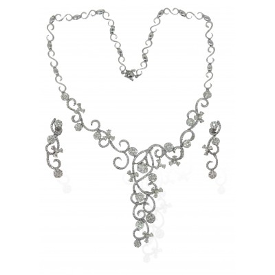 Necklace Set Gold & Diamond