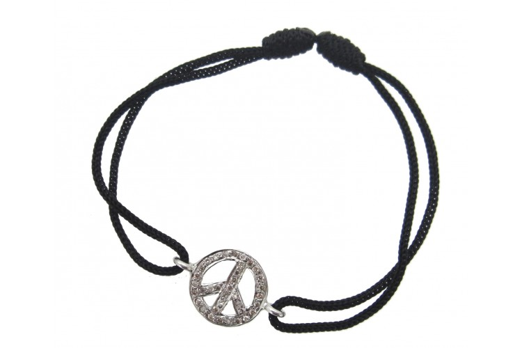 Buy Peace Sign Diamond Bracelet Online In India At Best