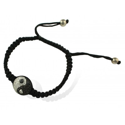 Yin Yang Bracelet  White & Black Diamond