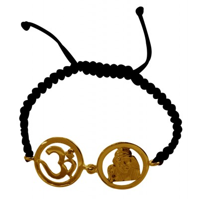 Om & Sai Bracelet in Gold