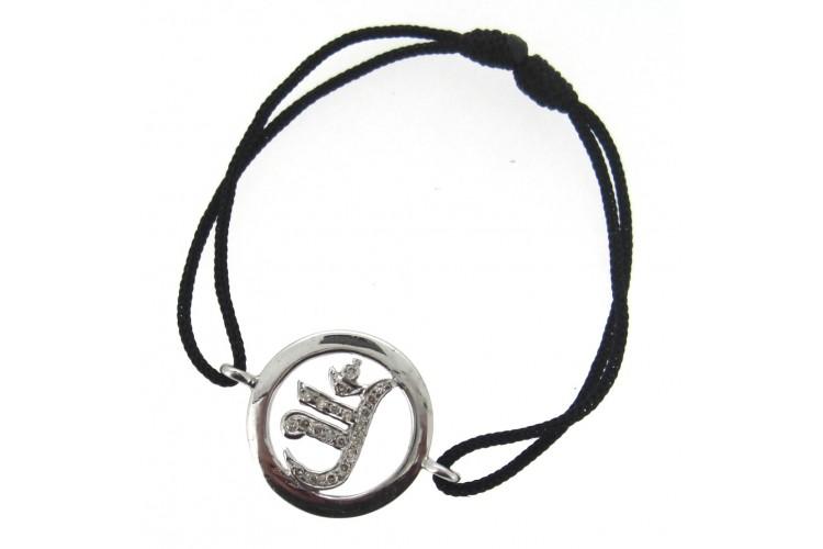 Buy Jain Symbol Bracelet In Silver With Diamond Online In India At