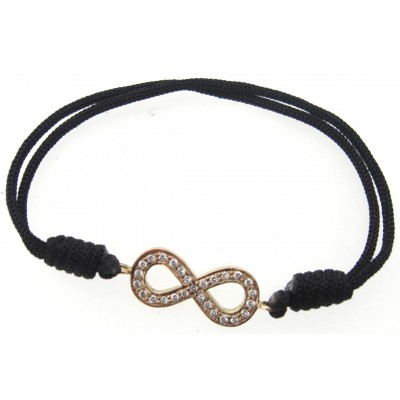 Infinity Symbol Bracelet in Gold With Diamonds
