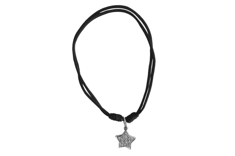 Star of My Life Charm in silver